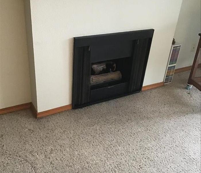 Storm Damaged Fireplace